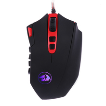 Redragon M901 Perdition Adjustable 16400DPI Programmable Laser USB Gaming Mouse High Precision Gamer Mice for PC Laptops