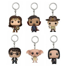 DC Movie Super Hero Wonder Woman The Flash Pocket Keychain Key Ring Hanger Hermione Dobby Voldemort Snape Rick Walking Dead