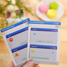 1 Set Diy Cute Computer System Shape Memo Pad Stickers Diary Stationary Set Kawaii Stickers Cute Office Supplies