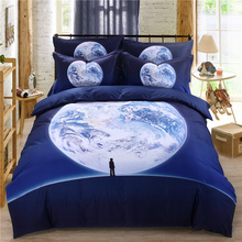 3d digital printed comforter set,queen size,1pc comforter+1pc bedspread+2pcs pillow cases,soft bedding set with we chat pattern