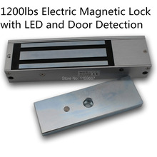 Wooden Metal Door Access EM lock 1200lbs 500kg Electromagnetic Lock Access Control Door Lock With LED light and Door Detection(China)