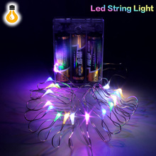 LED Copper Wire String light Battery Powered LED Strip For Fairy Christmas Tree Holiday Party Decoration Night lighting(China)