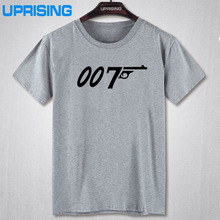 New fashion Brand Quality Movie Film 007 James Bond Print T Shirts 100% cotton Short Sleeve Round Neck T-shirts Casual Loose Tee