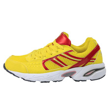 2016 New Women's Run Shoes Yellow and Red Air Mesh Athletic Breathable Sport Shoes Sneakers Running Shoes