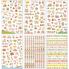 6 Sheet/lot Creative Cute Cat PVC Sticker for DIY Scrapbooking Diary Phone Sticker Products Design Paster Kawaii Stationary