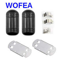 WOFEA CE 100M Beam Sensor Alarm wired Dual Beam Photoelectric Infrared Detector Ir Barrier waterproof outdoor(China)
