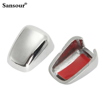 ABS Chrome Windshield Washer Nozzle Caps Trim Cover For 2014 Jeep Grand Cherokee Compasser Patriot(China)