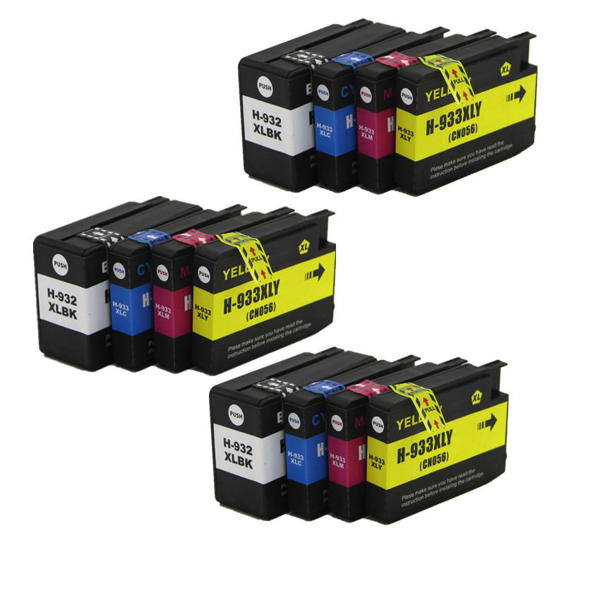 3set compatible FOR hp 932 933 XL 932XL Ink Cartridge for HP Officejet 6100 6600 6700 7110 7610 7612 printer