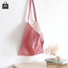 ROSEDIARY Red plover case printing cotton linen fabric Handbags large capacity Shopping Beach Bag Women Girl Shoulder bag