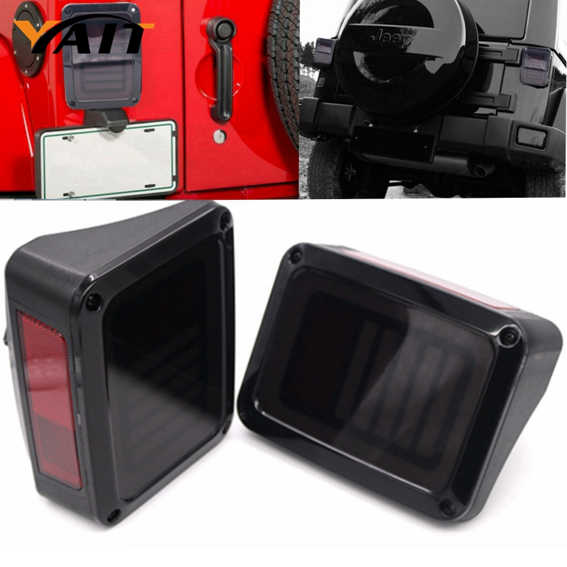 EU / US Style a pair LED Integrated Running Tail Light for Jeep Wrangler JK 2007-2016 12V 4x4 4WD Reverse Backup Lamp<br>