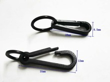 Wholesale 100pcs black KAM plastic snap clip hooks Mini carabiner backpack paracord strap hooks 2016012401