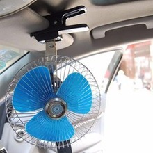 MAYITR New 12V 8 inch Auto Car Truck Cooling Air Fan with Clip Cigarette Lighter Plug Mini Electric Low Noise Car Portable Fan