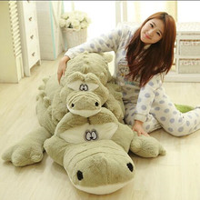 1pc 55cm/80cm New Arrival Stuffed animals Big Size Simulation Crocodile Plush Toy Cushion Pillow Toys For Girlfriend Children