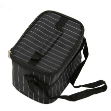 Large Capacity Striped Thermal Insulated Lunch Bag Pouch Storage Box Food Picnic Bags Tote Bags For Women Kids