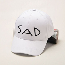 New 2017 Cotton Elastic Fitted Hats Sunscreen Baseball Cap SAD Letter Men&Women Sport Visor