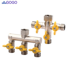 Brass 1 inlet 3 outlet shunt valve Water separation valve mixer faucet separate Natural gas valve Washing machine accessories(China)