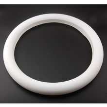 1pcs Silicone Auto Car Steering Wheel Cover Shell Car styling New White Leather Texture Soft for toyota renault bmw car trims