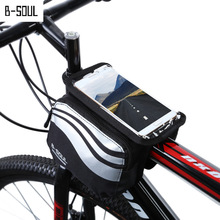 Bicycle Front Touch Screen Phone Bag,MTB Road Bike Cycling Mobile Bag,Cycle Front Bag 5.7 inch Cellphone Bag Bicycle Accessories