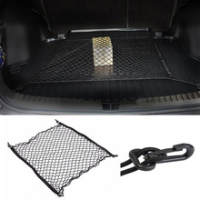 100 x 100CM Universal Car Rear Trunk Cargo Luggage Storage Organizer Mesh Net Bag with 4 Hooks Fit for SUV Toyota RAV4 CRV 4X4(China)