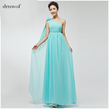 drnwof Party Bridesmaid Dresses 2017 New Brand Chiffon Long Women Bridal Prom Gown Plus Size Dress royal blue orange pink red