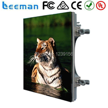 2015 Leeman CE RoHS ETL Stand Alone Pole Commercial P8 Cabinet Die Casting Aluminium LED Display Video Wall Screen Billboard