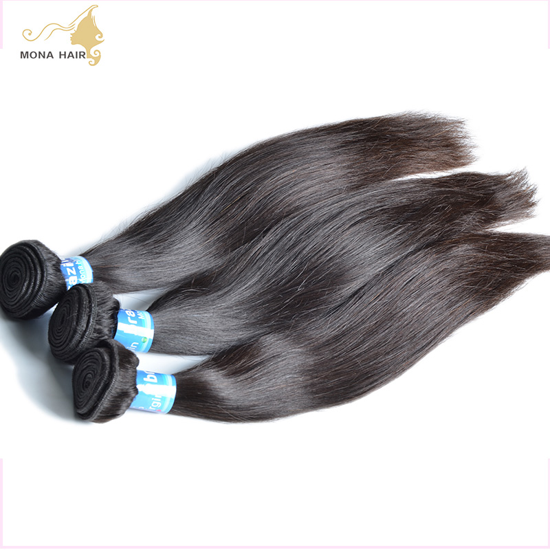 Free shipping 8A Quality Brazilian Virgin Hair Human Hair Weave Straight Factory Outlet Price 10-30inch 1piece/lot<br><br>Aliexpress