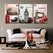 Canvas Pictures Surprise Looks New Fashion London Hot Such As Clock  Bus Phone Wall Paintings For Living Room Printed Art