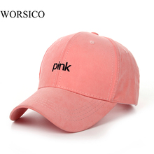 2017 Fashion Brand Summer Snapback Baseball Cap Women Hip Hop Caps Suede Hats for Ladies Black Pink Baseball Cap Polo Gorras