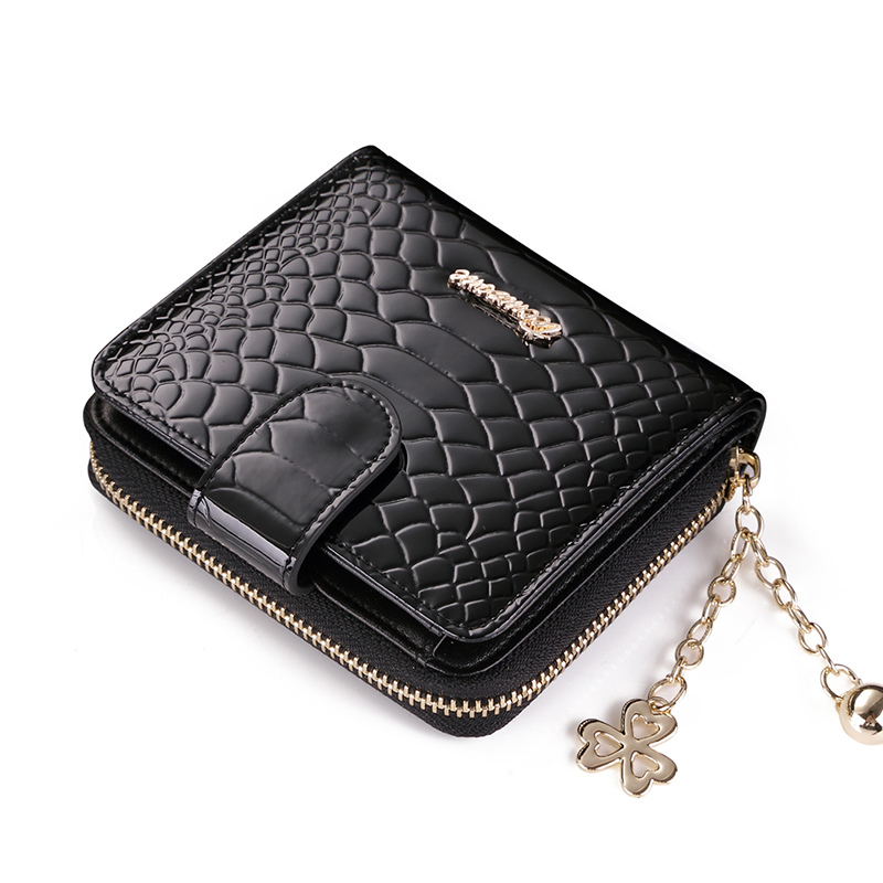 teemzone Simple Black Lines Zipper Wallet Fashion Womens Genuine Leather Wallet Lady Card Purse Handbag Wallet Coin Packet Q455<br><br>Aliexpress