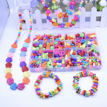 Fashion Toys For Colorful Girl Toy DIY Bracelet Toys Jewelry Making Kids Hama Beads Set Educational 3D Puzzle Perler Beads Toys(China)