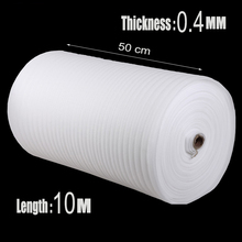 0.5*10m 1Pcs 0.4mm Noppenfolie Espuma EPE Foam Roll Pre-cut Air Cushion Dunnage Packing Material Shipping Protection Wrap Bumper