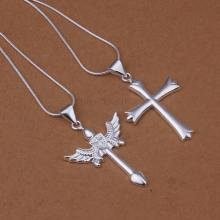 LS369 2015 bulk sale cheap bridal party jewelry setssideway cross pendant items accessories(China)