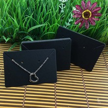 Kraft/Black Handmade Neclace Card Jewelry Display Pendant Card 1lot= 200 pcs Blank Jewelry Card Custom Logo Cost Extra(China)
