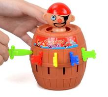 1 Set Pirate Toys Barrel Crisis Novel Whimsy Classic Family Funny Lucky Party Creative Interactive Baby Kids Toys Game Gifts(China)