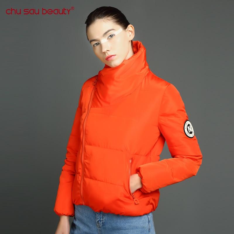 CHUSAUBEAUTY 2017 New Oblique Placket Design Women Coat In Spring Autumn Womens Parkas  Loose Jacket womens jackets winter coatÎäåæäà è àêñåññóàðû<br><br>