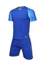 New men' plain soccer sets men football jerseys and shorts college athletic futebol kits customized any color logos sportswear(China)