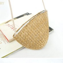 Need time Summer Weaven Women Straw Messenger Bags Shell Mini Beach Bag Small Children Kid Croosbody Shoulder Bag Lady Handbag