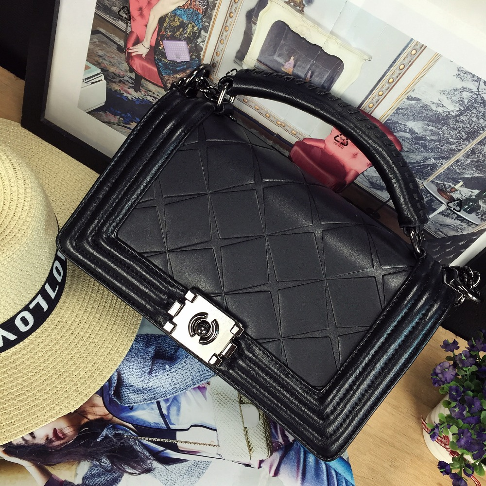 2017 Good quality fashion design classic Quilted chain pu leather ladies handbag flap across body messenger bag purse 4 colors<br><br>Aliexpress