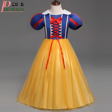 Girl Dress 2017 Fashion White Snow Princess Dress New Style Kids Girls Party Dress Halloween Girls Cosplay Costume Vestidos