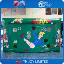 Free shipping inflatable football soccer / 4m inflatable football goal target / Street hockey ball shooting inflatable target