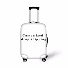 FORUDESIGNS Customized Elastic Luggage Protective Covers For 18- 28 Inch Suitcase Thick Dust Rain Cover Travel Bag Case Cover(China)