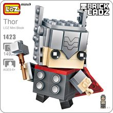 LOZ Mini Blocks Action Figure Superheroes Super Heroes Toys Children Builds Educational Boy Gift Bricks 1423 - ideas Store store