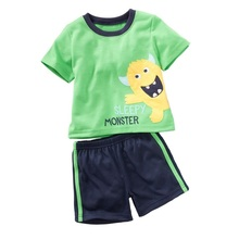 Jumping Beans Boys Clothes Sets Green Monster Baby Boy's Sport Suits Children Clothing Suit Kids Pajamas Tee Shirts Pant 2-piece