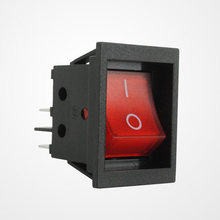 RK1-03B Tactile On-Off Electrical Switch 4 Pins Micro Rocker Switch With Red Button Wholesale Durable 32*25*27.2mm Black(China)