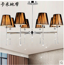 Continental Restaurant LED lamps bedroom living room chandelier crystal chandelier study(China)