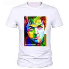2017 Summer Punk Style Plus Size Clothing Casual Billie Joe Amstrong in WPAP Green Day Printed T Shirt Men Hipster T-shirts