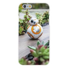Starwars Bb-8 Droid Robot Star Wars Bb8 For Apple iPhone 4 4S 5 5C SE 6 6S 7 7S Plus 4.7 5.5 Soft TPU Silicon Fashion Case