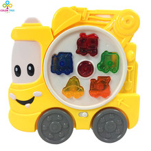 Wholesale Baby Toy Truck Kid's Smart Music Vehicle Toy Electric ENGLISH SPANISH Early /Xmas Gift
