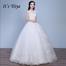 Buy It's Yiiya White Shoulder Pregnancy Wedding Dresses Floor Length Ball Gowns Bride Dress Vestidos De Novia Casamento ZT006 for $56.00 in AliExpress store