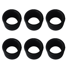 High Quality 6 Pieces Black Rubber Fishing Rod Holder Pole Rest Rack Insert Protectors for Kayak Canoe Fishing Boat Accessoreies